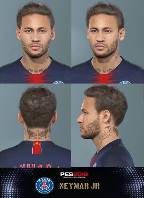 PES 2019 Faces Neymar Jr by Messi Pradeep ~ PESNewupdate com