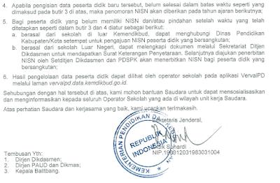 kebijakan terbaru pembuatan NISN 2016