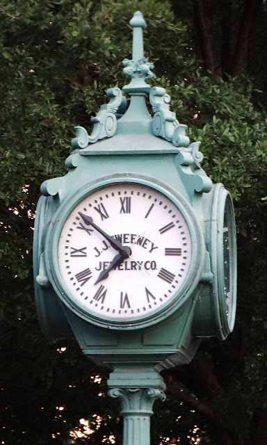 J. J. Sweeney Clock at the between Hobby Center and Bayou Place