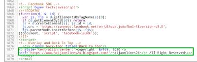 Add copyright html