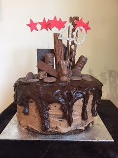 40th Birthday Showstopper Chocolate Drip Cake With All The