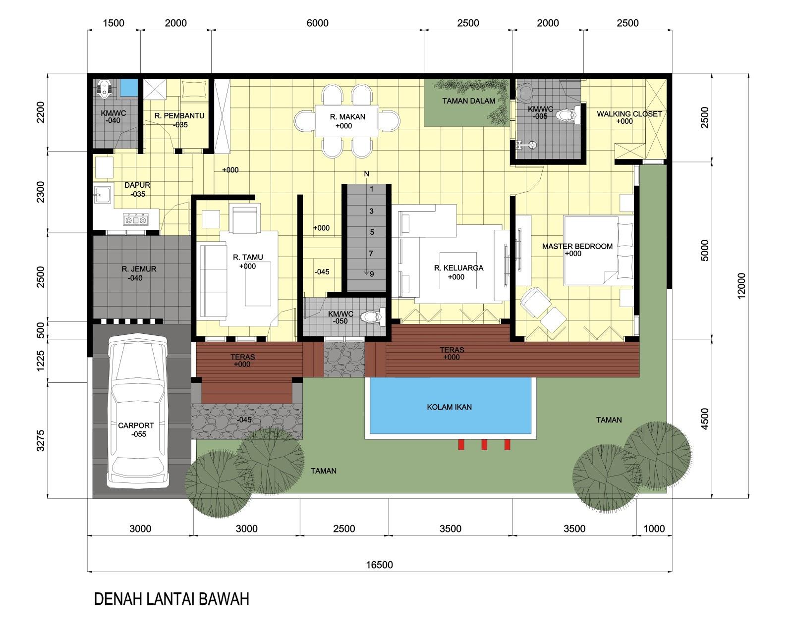 IDEsign Arsitektur Desain Rumah Dengan Luas Lahan 12 X 165 M
