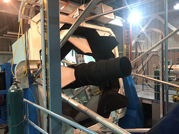 We received permission to open the 3.5-meter mirror covers (Source: Palmia Observatory)