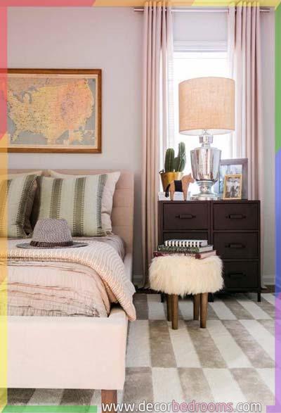 حصيرة في كامل مساحة غرفة النوم الضيقة