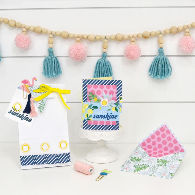 Summer Celebration DIY Party Decor with The Works All In One Tool by We R Memory Keepers
