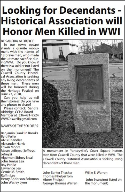 Caswell county messenger