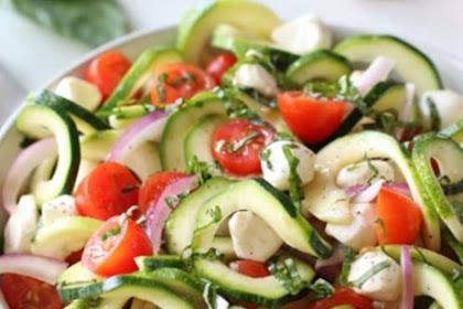 Caprese Zucchini Salad with Balsamic Vinaigrette