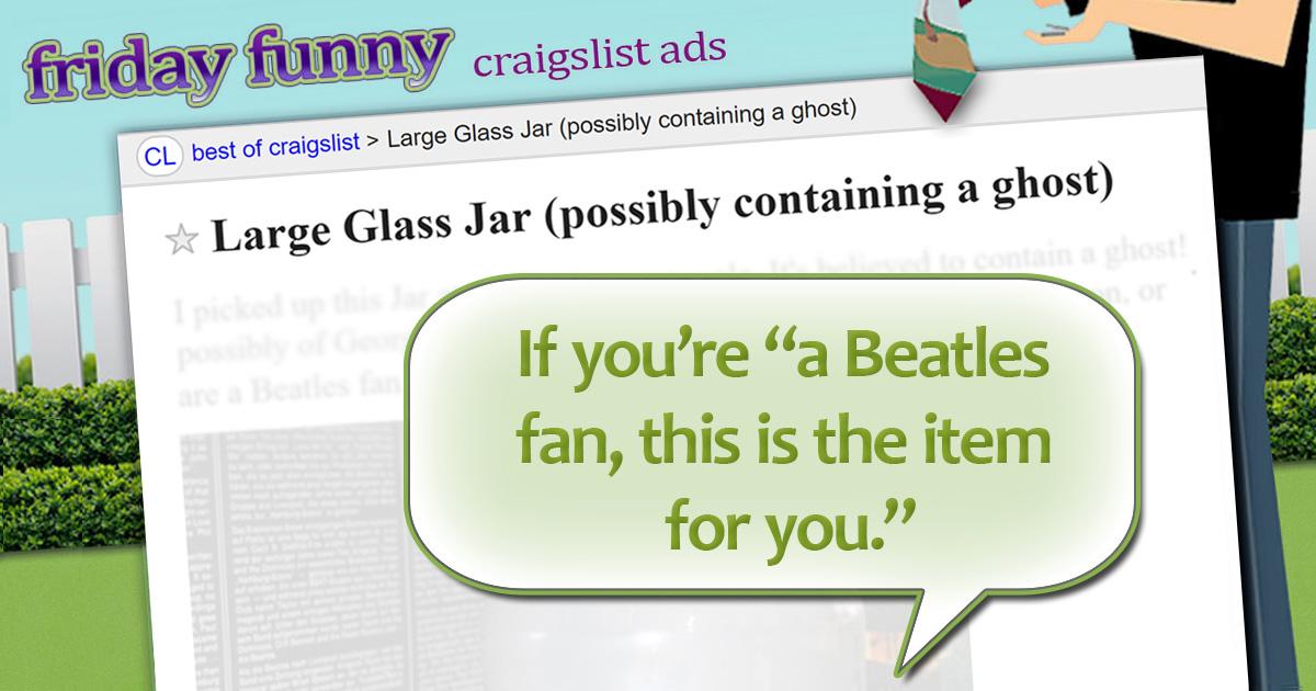 Funny craigslist ads ghost of garage sales past for Craigslist com okc