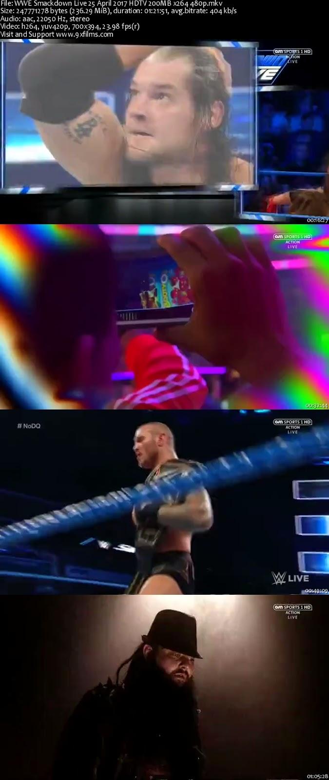 WWE Smackdown Live 25 April 2017 HDTV 480p
