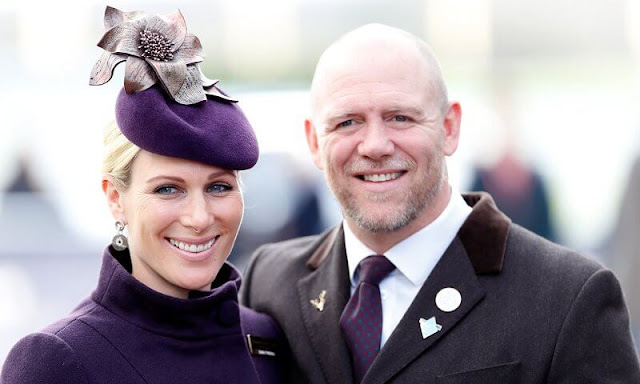 Queen Elizabeth and Prince Philip. Princess Anne, Lucas Philip Tindall, Lena Tindall, Mia Grace Tindall