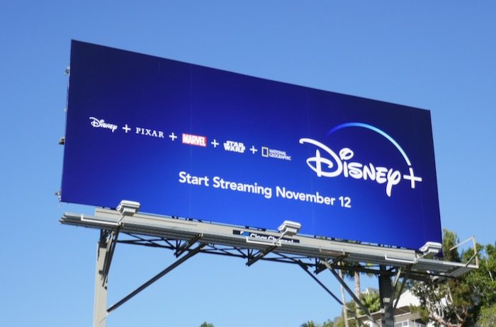 Disney+ launch billboard