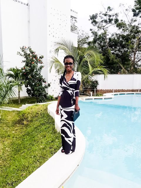 My Black and White Maxi Dress- Vacation Outfit Idea