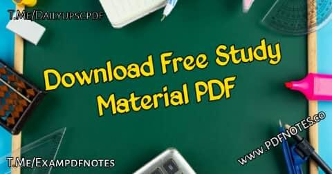 upsc pdf notes
