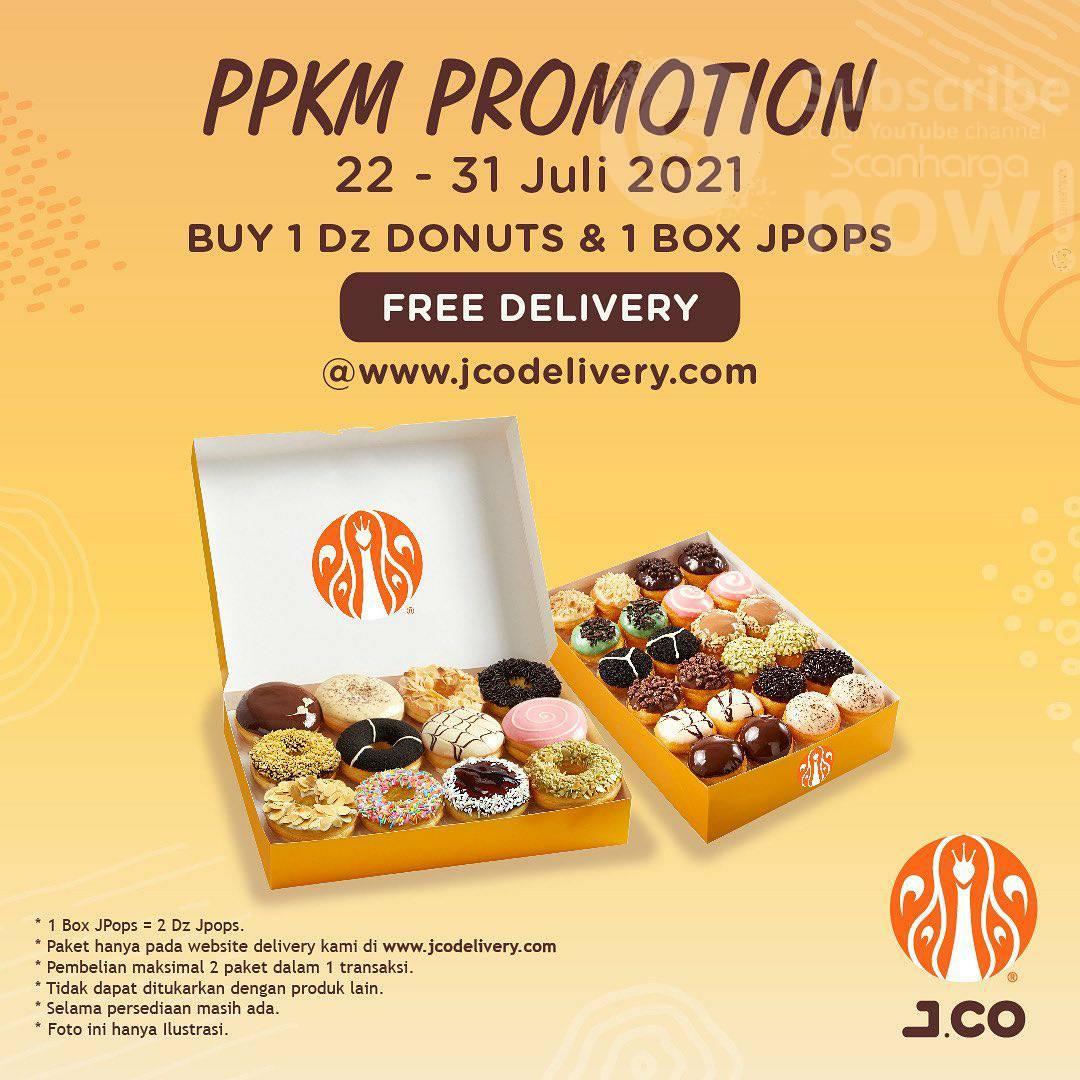 Promo JCO PPKM Promotion Periode 22 - 31 Juli 2021