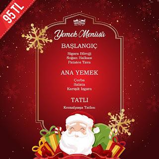 Yeditepe Teras Restaurant Cafe İstanbul Yılbaşı Programı 2020 Menüsü