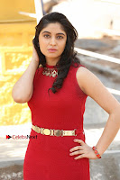 Telugu Actress Zahida Sam Latest Pos in Red Gown at RF Films New Movie Opening  0056.JPG