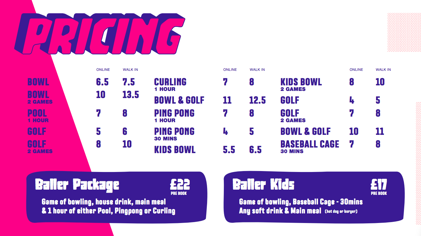 Gutterball Royal Quays Prices