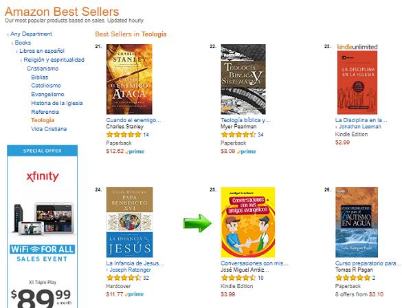 Conversaciones con mis amigos evangélicos, Best Seller de Amazon