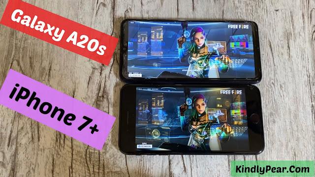 مقارنة بين iPhone 7 Plus vs Galaxy A20s أيهما الأقوى في تشغيل الألعاب