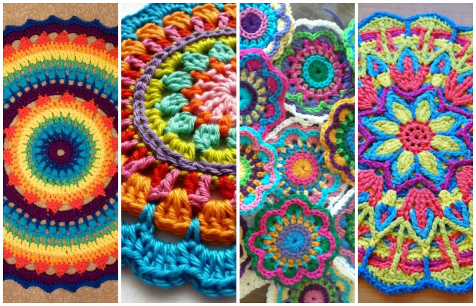 Reciclando con erika mandalas a crochet v deo tutorial - Manualidades de ganchillo para navidad ...