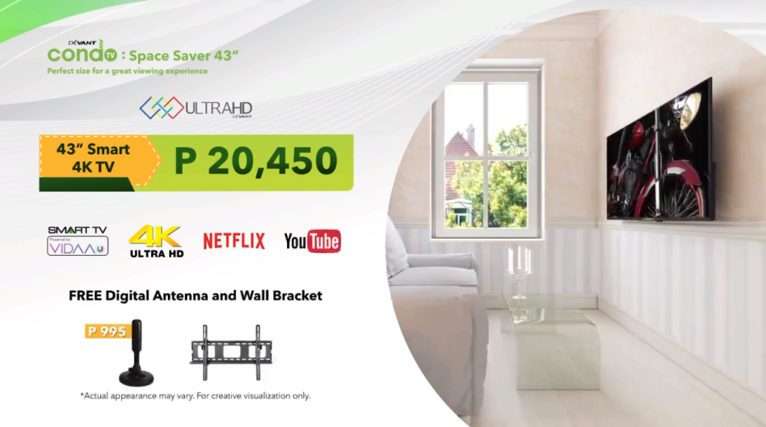 Devant TV, Devant 43-inch TV Condo, Devant Space Saver TV