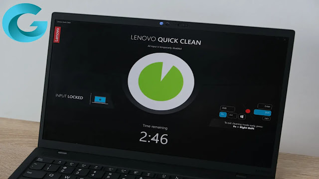 ThinkPad X1 Nano is also equipped with a feature called Lenovo Quick Clean