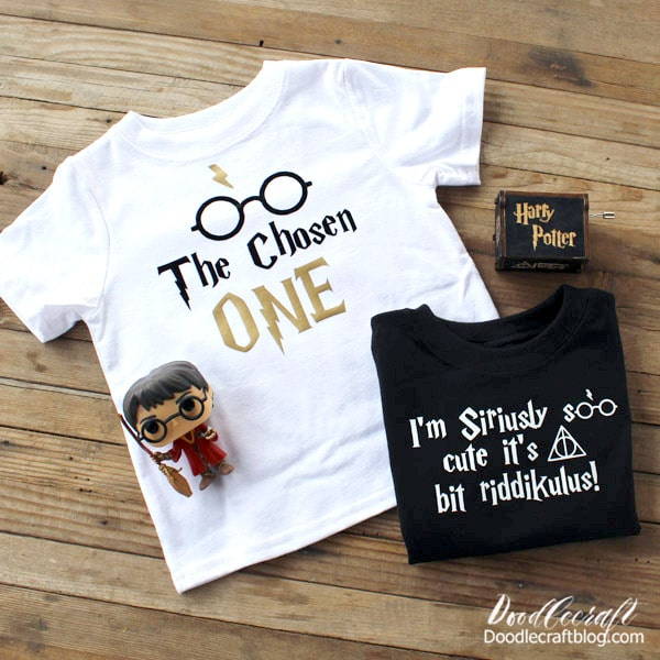 Supplies Needed for Harry Potter Shirts: Cricut Maker (or cutting machine) Cricut Foil Iron-on (gold) Black T-shirt Cricut EasyPress 2 and Mat Cricut Design Space Harry Potter PNG files below