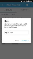 Tampilan Aplikasi Halaman Cetak Struk