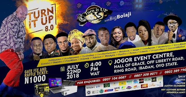 "Event: BIG BOLAJI sets to host TURN IT UP ""The 8th Edition"" - July 22 