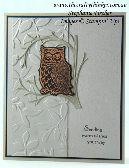 #thecraftythinker  #stampinup  #cardmaking  #rubberstamping  #stillnight  #shimmerpaint , Night Owl, Still Night, Layered Leaves, Crazy Crafters Blog Hop, Stampin' Up Australia Demonstrator, Stephanie Fischer, Sydney NSW