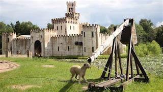 Michael Newman's Texas Castle and trebuchet