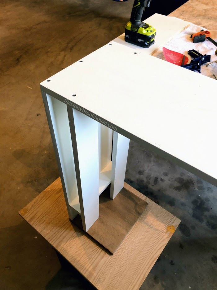 Attaching base with screws