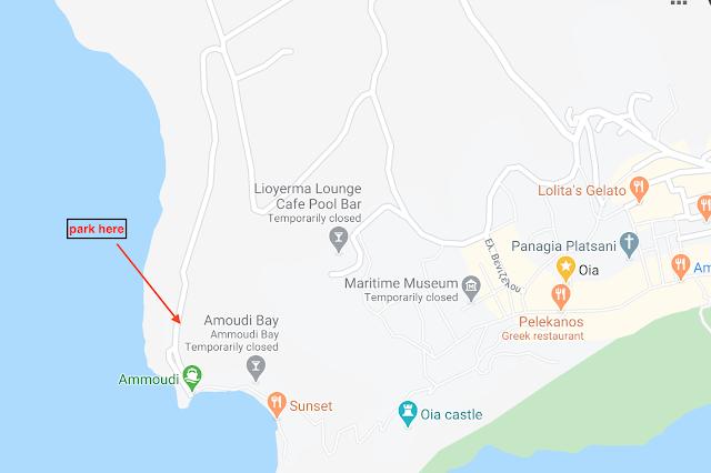 Directions to Amoundi Bay in Oia, Santorini, Greece