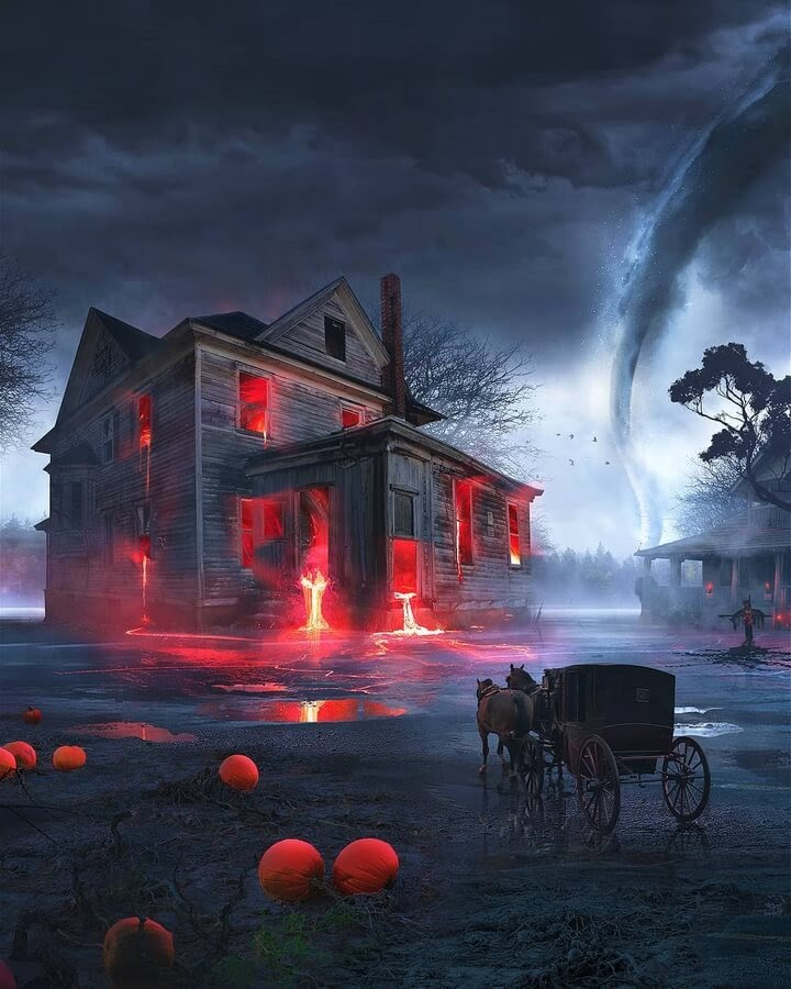 09-Haunted-house-Illustrations-Martina-Stipan-www-designstack-co