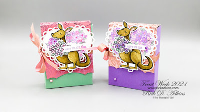 Treat Week 2021 day 2 project featuring the Kangaroo & Company Bundle Russel Stovers Treat Box Click here to learn more