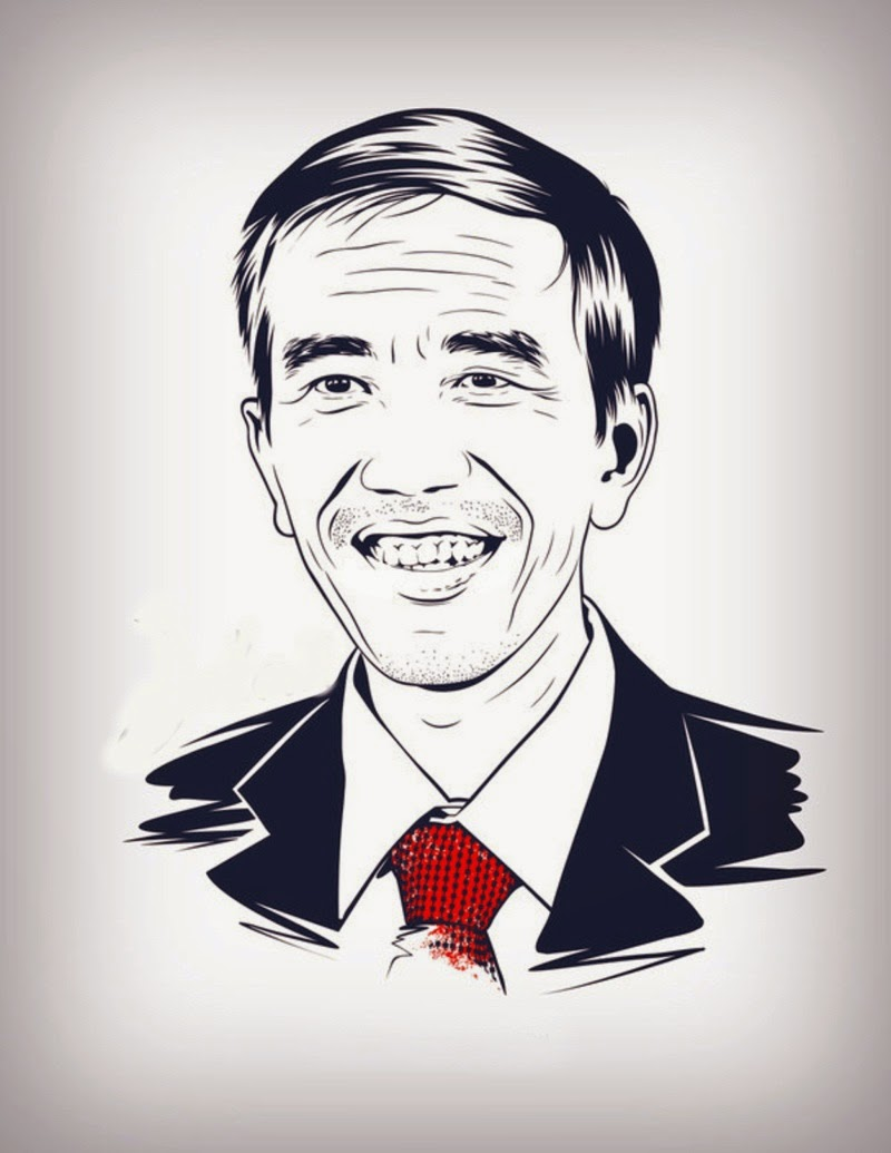 ✓ Gambar Karikatur Sketsa Jokowi Hitam Putih