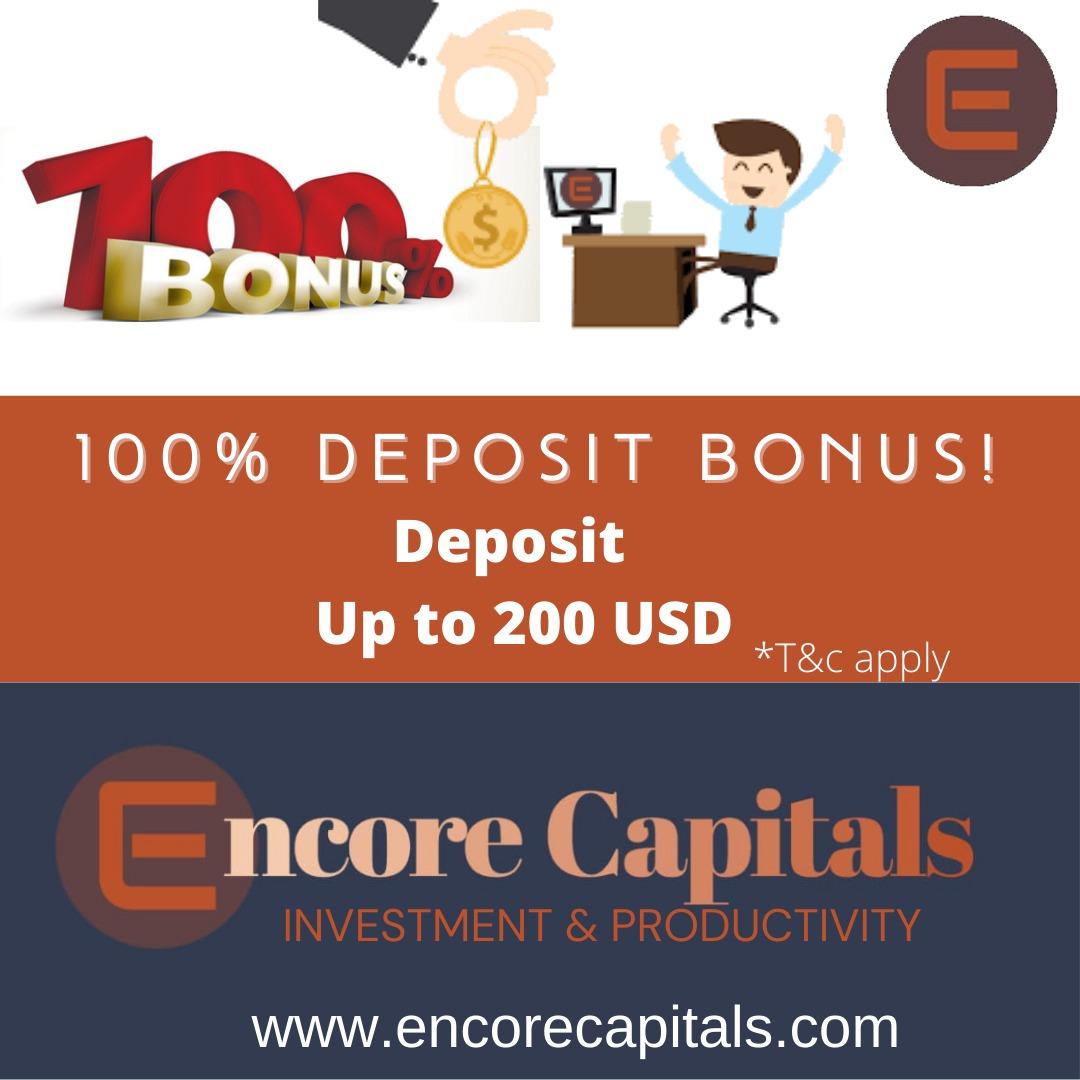 Bonus Deposit Encore Capitals 100% - Tradable Bonus
