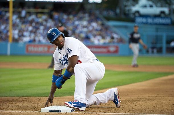 Desde que regresó a los Dodgers, Yasiel Puig promedia para .444, con dos jonrones y cinco impulsadas en cuatro partidos