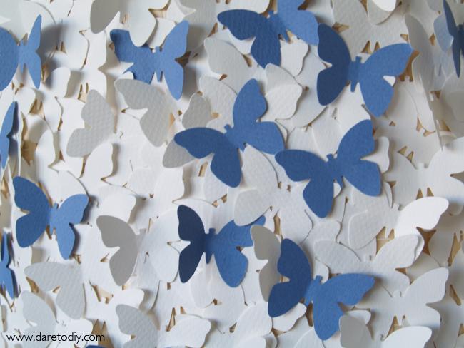 Dare to diy decoraci n diy transforma una l mpara con - Como hacer mariposas de papel para decorar paredes ...
