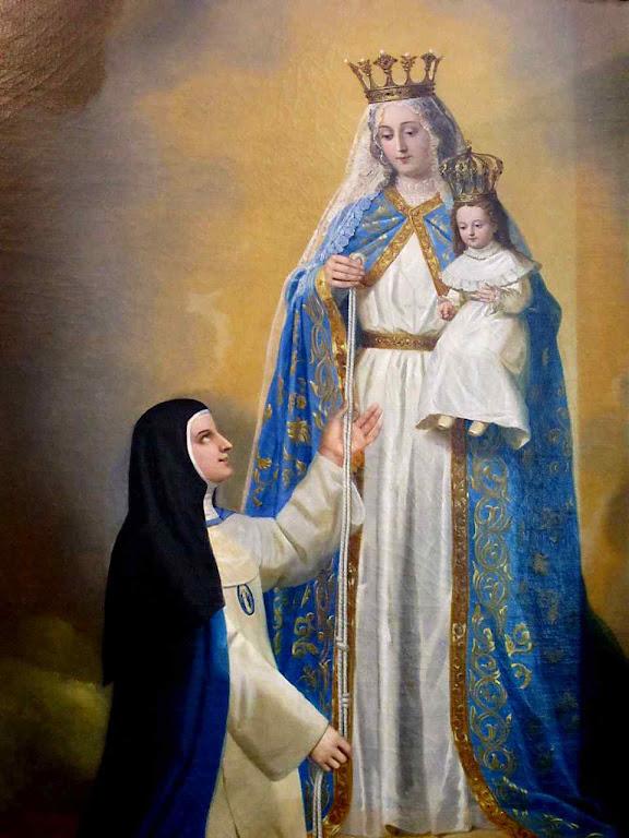 Nossa Senhora fornece suas medidas a Madre Mariana para fazer a imagem