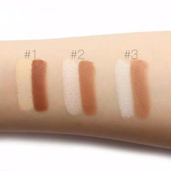 focallure highight and contour swatches