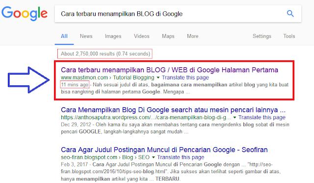 Cara Terbaru Menampilkan Blog Web Di Google Halaman Pertama Mastimon Com