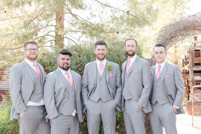 Shenandoah Mill in Gilbert AZ Wedding Party Photo of groomsmen by Micah Carling Photography
