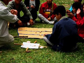 Analisando o Resultado dos Bastões em Jogo no Lago das Carpas - Parque da Cantareira, São Paulo