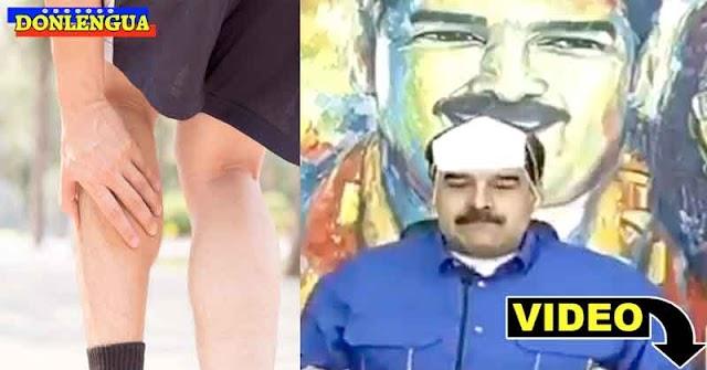 Dictador Nicolás Maduro decreta la nueva ubicación de la pantorrilla en el cuerpo humano