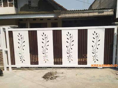 harga pintu pagar minimalis besi, pintu pagar semi tempa