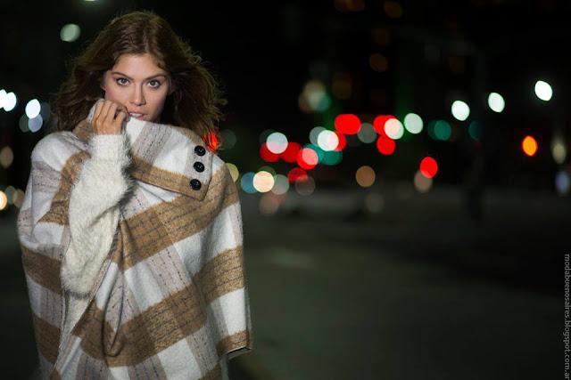 Moda otoño invierno 2016. Cenizas otoño invierno 2016 ponchos y abrigos 2016.