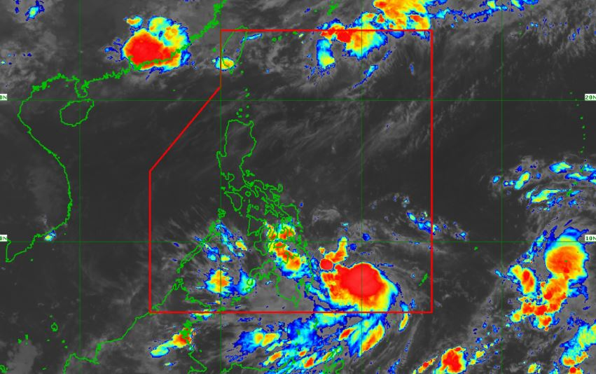 Satellite image of Tropical Storm 'Dante' as of 7:00 am, May 31, 2021