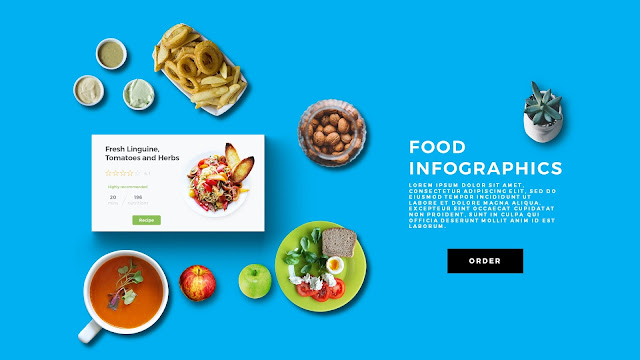 Food Infographic Scene Creator in Free PowerPoint Template Slide 1