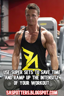 Use super sets to save time and ramp up the intensity of your workout.